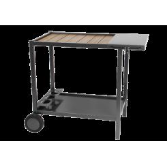 Chariot plancha en métal et bois ☀ Verycook