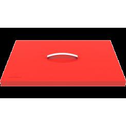 Couvercle de protection pour plancha rouge