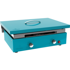 Couvercle de protection pour plancha turquoise 3